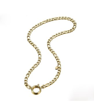 Gold Figaro Ring Chain Necklace