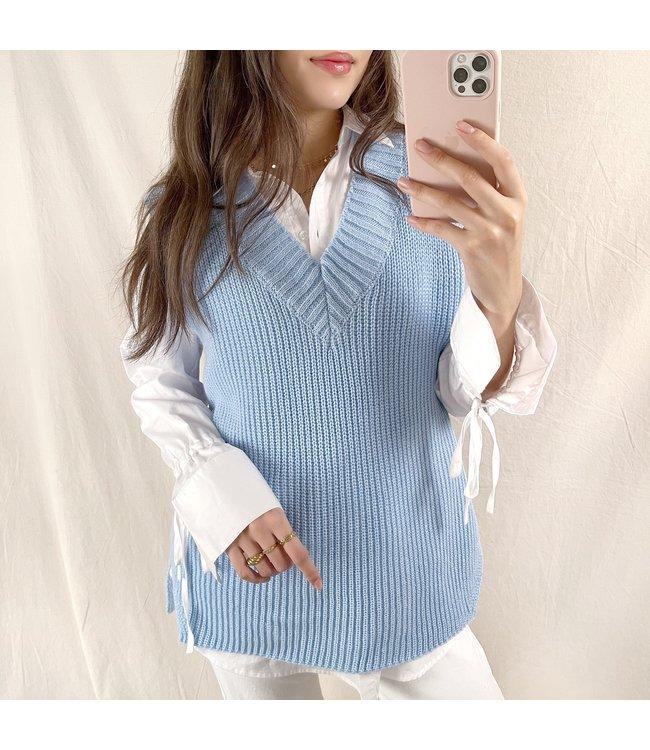 Elea Basic Knitted Spencer / Blue