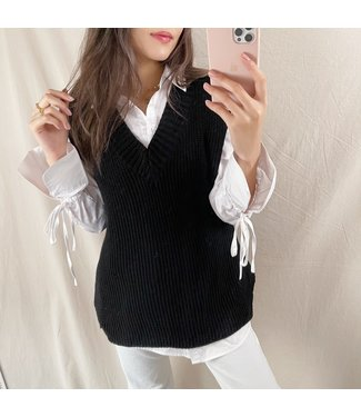 Elea Basic Knitted Spencer / Black