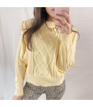Karina Ruffle Knit Top / Yellow