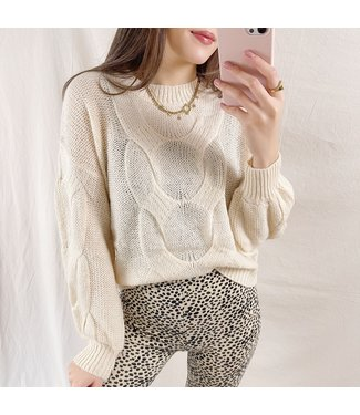 Rive Cable Knit Sweater / Beige