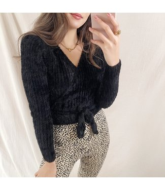 Fiora Soft Wrap Cardigan / Black