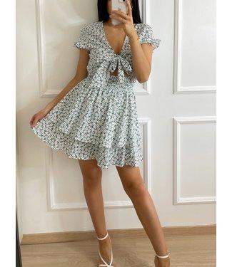 Solana Flower Dress / Sea Green