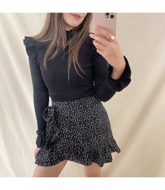 Freyah Dots Skirt / Black