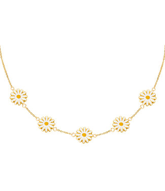 Gold Field Of Daisies Necklace
