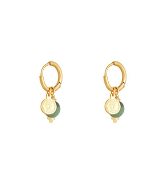 Gold Lucky Coin Earrings