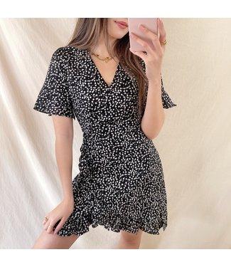 Junia Flower Dress / Black