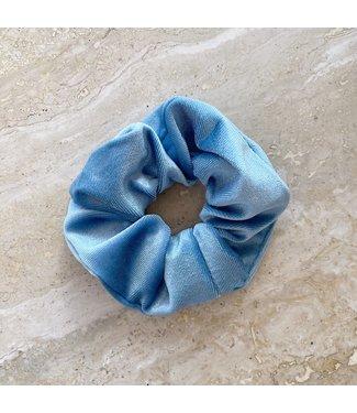 Cara Velvet Scrunchie / Blue