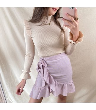 Ruri Striped Skirt / Lilac
