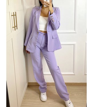 Aeri Wide Leg Trousers / Lilac