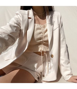 Zyra Tailored Blazer / Ecru