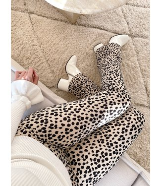 Yuno Leopard Flared Leggings / Sand
