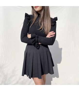 Seori Pleated Tennis Skirt / Black
