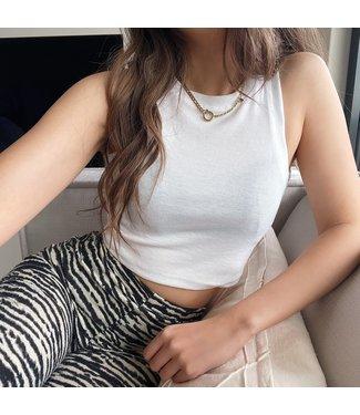 Dali Basic Crop Top / White