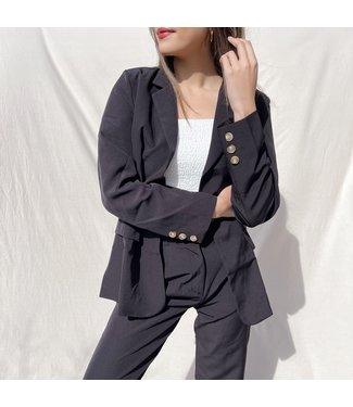Zyra Tailored Blazer / Black
