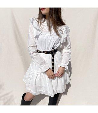 Mimi Ruffle Dress / White