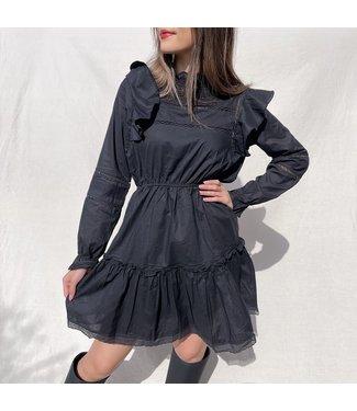 Mimi Ruffle Dress / Black