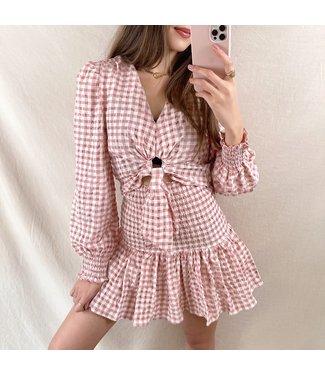 Rosetta Vichy Skirt / Pink