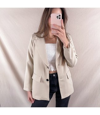 Jaya Loose Fit Blazer / Beige