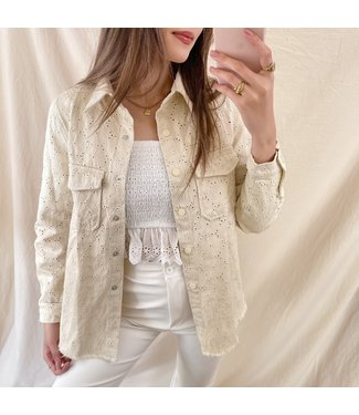 Julea Embroidered Blouse / Beige