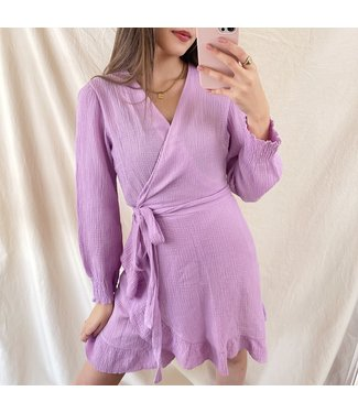 Alba Ruffle Wrap Dress / Lilac