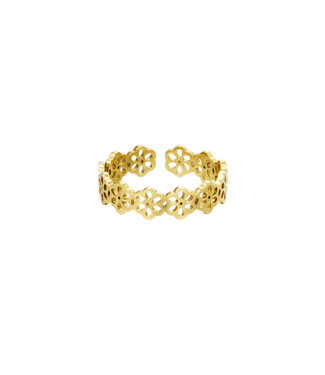 Gold Field Of Flowers Ring