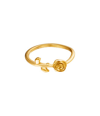 Gold Rose Flower Ring