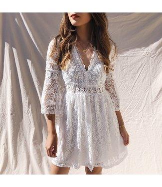 Madeleine Lace Dress / White