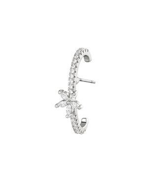 Silver Flora Earring