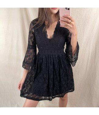 Madeleine Lace Dress / Black