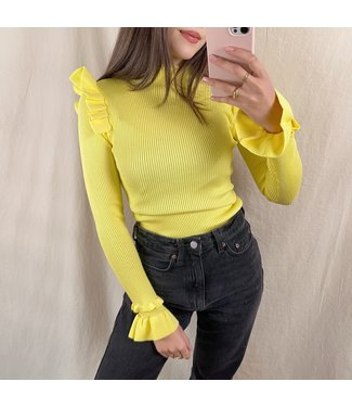 Marisa Ruffle Knit / Yellow