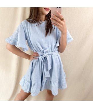 Aelis Ruffle Dress / Blue