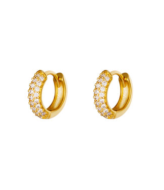 Gold Kira Hoop Earrings