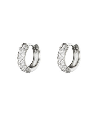 Silver Kira Hoop Earrings