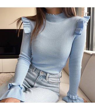 Marisa Ruffle Knit / Blue