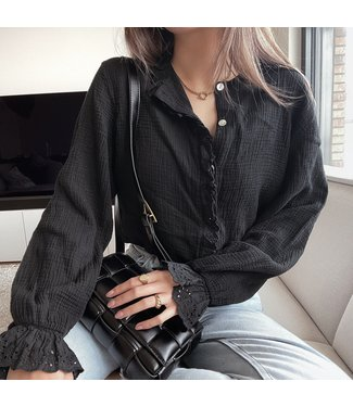 Sienna Embroidered Blouse / Black