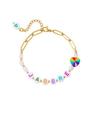 J'adore Pearl Beads Bracelet