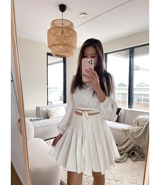 Seori Pleated Tennis Skirt / White
