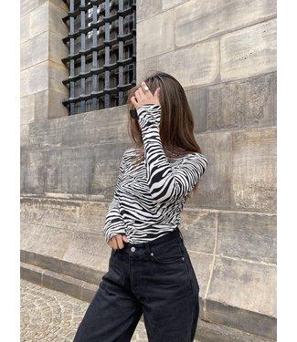Gigi Zebra Top / Black