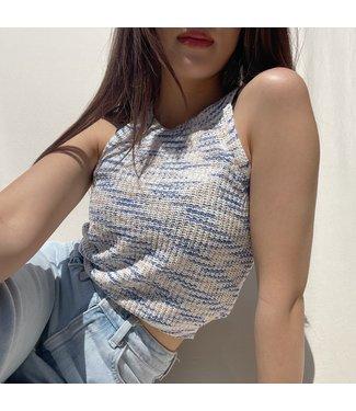 Rayen Knit Crop Top / Blue