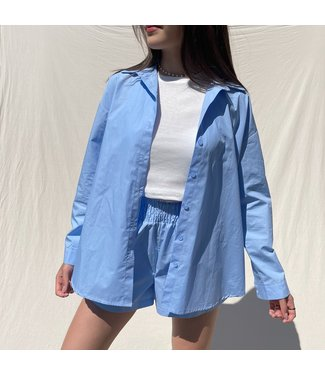 Lovisa Oversized Blouse / Blue