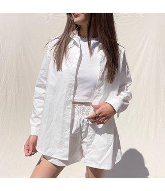Lovisa Oversized Blouse / White