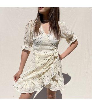 Yumea Dots Wrap Dress / Yellow