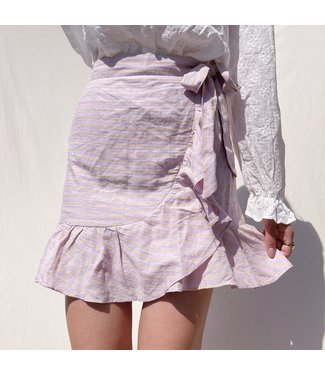 Ruri Striped Skirt / Lilac