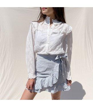 Luisa Striped Skirt / Grey Blue