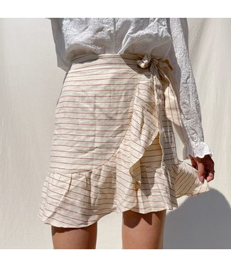 Ruri Striped Skirt / Light Yellow