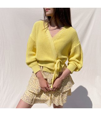 Laurie Wrap Cardigan / Yellow