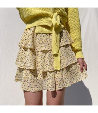 Dante Flower Skirt / Yellow