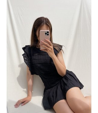 Noella Ruffle Dress / Black