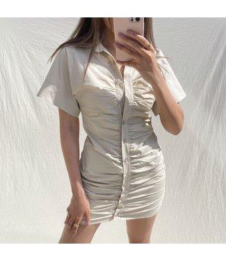 Narumi Ruched Dress / Beige